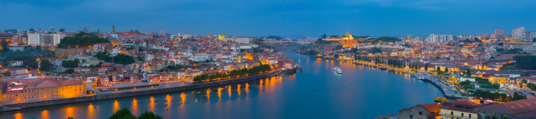 Panorama of night Porto