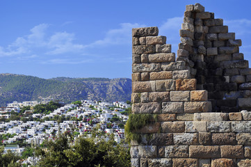 Myndos Gate of famous tourism city Bodrum Turkey