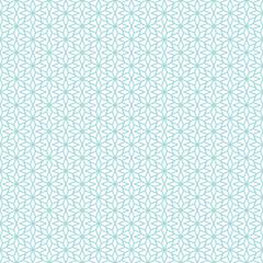 Retro Seamless Pattern Stars Christmas Turquoise