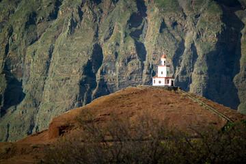 """Steeple close to the church """"Nuestra Señora de la Candelaria"""" at """"Frontera"""" at El Hierro, Canary Islands"""