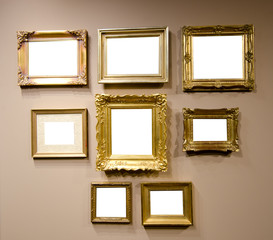 gallery frames for your picture with clipping path