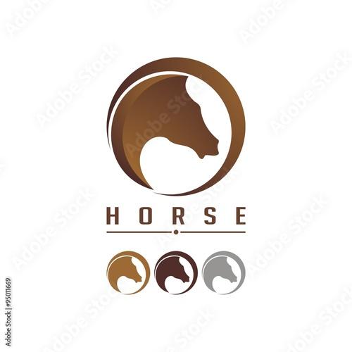 quothorse in the circle logo designquot imagens e vetores de