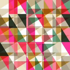 Seamless pattern of geometric shapes. Geometric retro background. Triangle background.