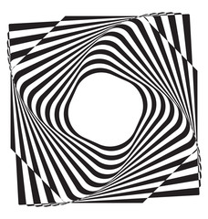 Optical illusion abstract element