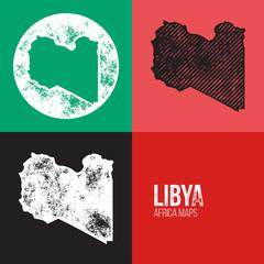 Libya Grunge Retro Maps - Africa