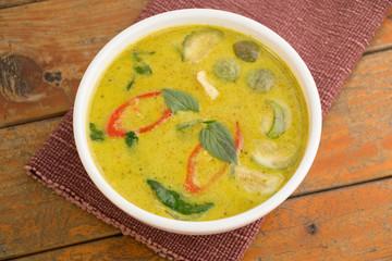 Chicken Green Curry, Green curry chicken in coconut milk