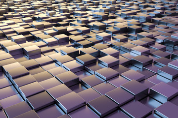 purple metallic cubes