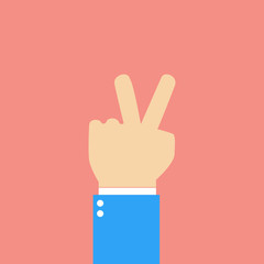 peace sign - hand showing two fingers
