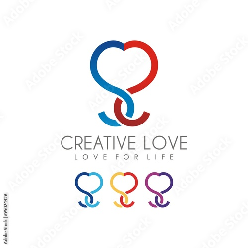 quotdouble s form of love logo designquot stock image and