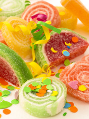 candies with confetti