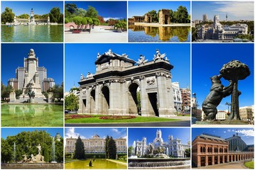 collage of Madrid, Spain