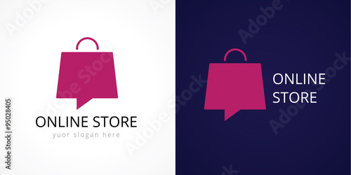 Online store logo. Shops, sale, discount, store or shop the web ...