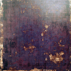 Grunge stained texture, distressed background with space for text or image. With different color patterns: brown; black; purple (violet); blue