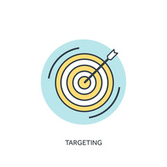 Target flat lined icon.