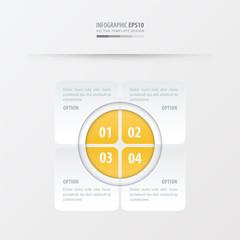 Rectangle presentation design   yellow color