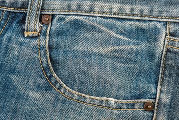 Pocket blue denim jean background