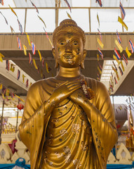 statue buddha in temple in thailand
