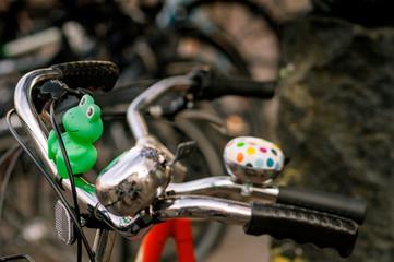 Fahrradlenker mit Dekoration
