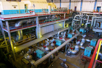 Machine hall of Power station