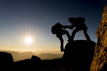 zirvenin doruklarına başarılı tırmanış