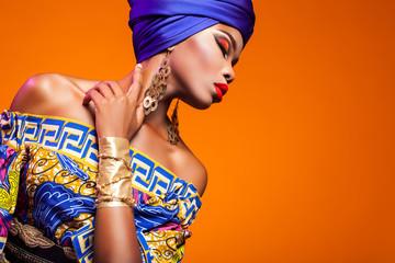 hot African Beauty Wall mural