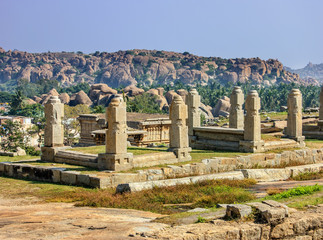 Wall Mural - Ruins of Hampi, a UNESCO World Heritage Site, India.