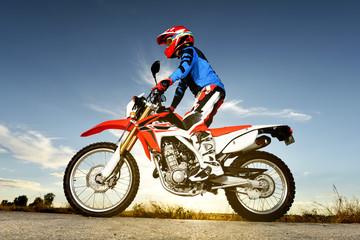 Man With Motocross Byke