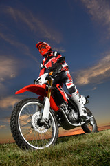 Man Ridond Motorcycle