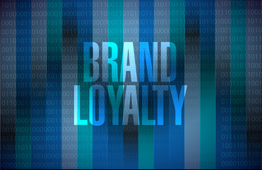 brand loyalty binary background sign concept