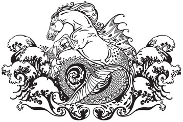 hippocampus mythological sea horse