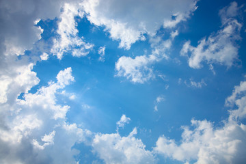 Sunny sky in the clouds.