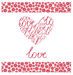Romantic Greeting Love Card for the Saint Valentine's Day