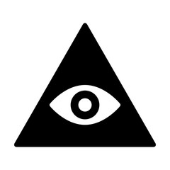 Eye of providence or all-seeing eye of God flat icon for apps and websites