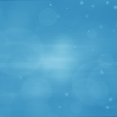Abstract background -, bright blue lights in darkness