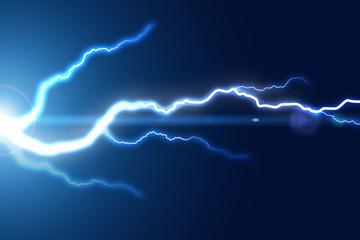 Bright lightning strike