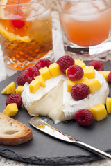 Baked Brie Cheese and Fruits