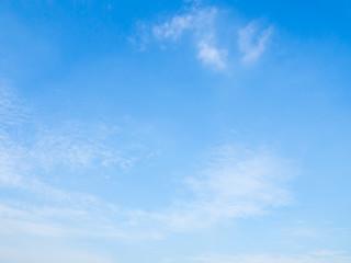 cloudscape blue sky on sunny day