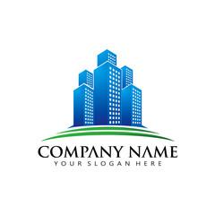 Simple Elegant Real Estate apartment logo icon