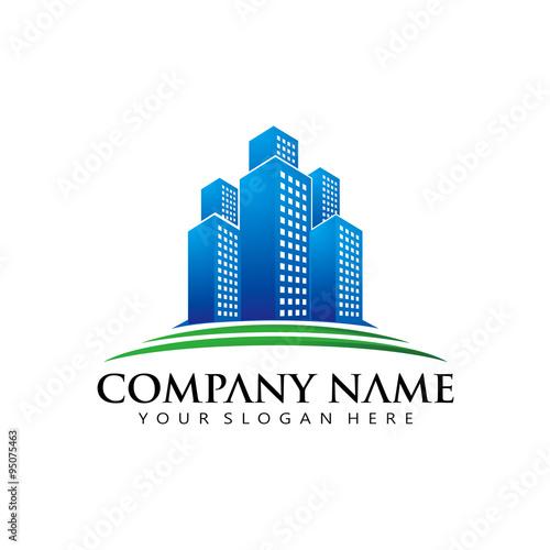quotsimple elegant real estate apartment logo iconquot stock