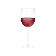 Glass of wine isolated on a white background.