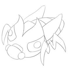Queen Bee Bug Line Art - Creature Design