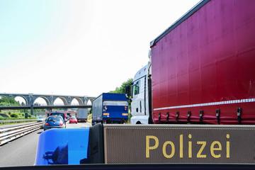 Achtung Unfall Autobahn