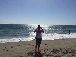 Fotografo in spiaggia