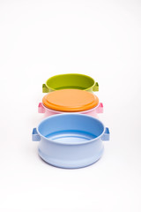 colorful retro food carrier