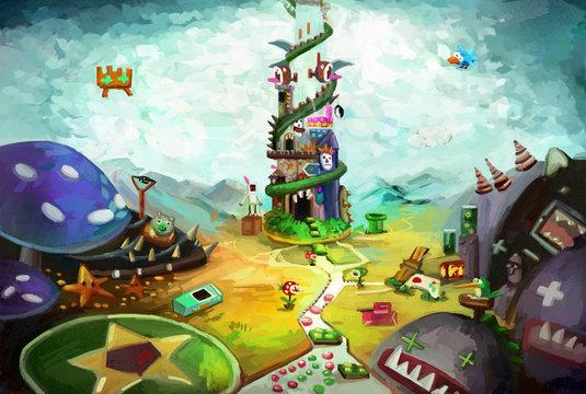 Game World - Illustration for your inner child