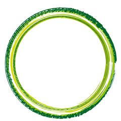 runder Rahmen Kreis grün