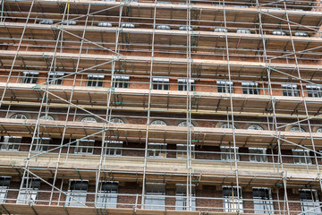 SCAFFOLDING TO BUILDING