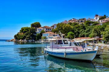 Beautiful harbour in Skiathos, Sporades, Greece