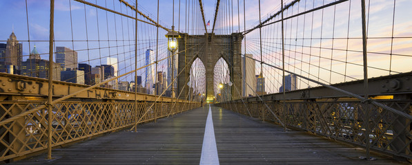 Printed kitchen splashbacks Brooklyn Bridge Panoramic view of Brooklyn Bridge
