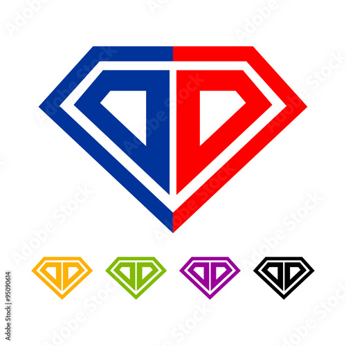 Initial DD Diamond Logo Template\